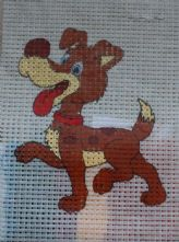 Cheeky Dog Printed 6 Count Binca Cross Stitch Kit